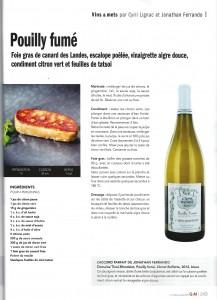 Dossier vins & mets